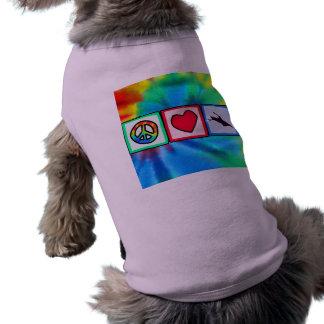 Paz amor Kayaking Camisas De Mascota