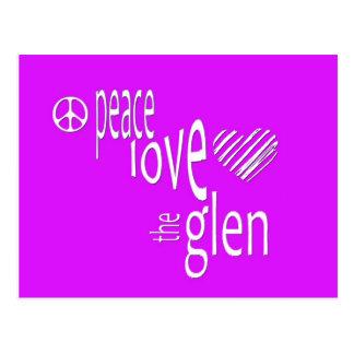 Paz, amor, la cañada tarjeta postal