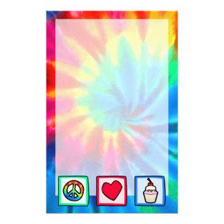 Paz, amor, magdalenas papelería de diseño