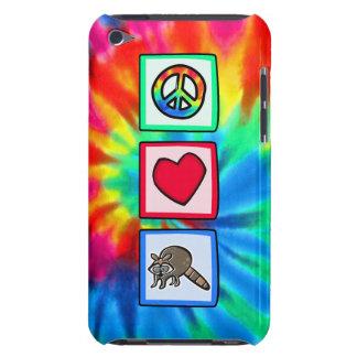 Paz, amor, mapaches iPod touch carcasas