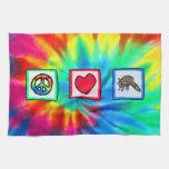 Paz, amor, mapaches toallas