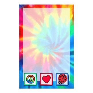 Paz, amor, mariquitas papelería