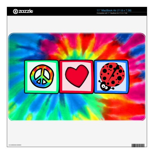 Paz, amor, mariquitas skins para MacBook air