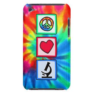 Paz, amor, microscopios iPod Case-Mate cárcasa