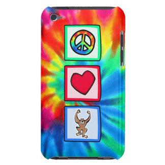 Paz, amor, monos iPod Case-Mate carcasa
