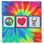 Paz, amor, monos servilletas imprimidas