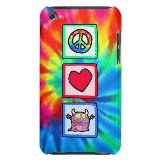 Paz, amor, monstruo iPod touch Case-Mate carcasa