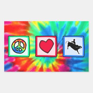 Paz, amor, montar a caballo de Bull Rectangular Altavoces