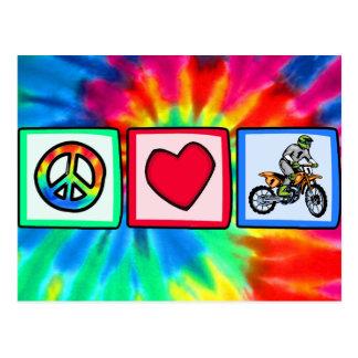 Paz, amor, motocrós postal