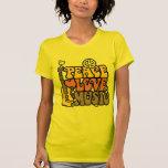Paz-Amor-Música Camisetas