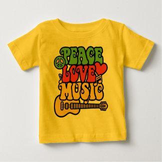 Paz-Amor-Música de Rasta Camisas