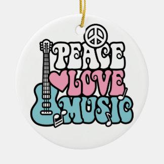 Paz-Amor-Música Ornamento De Reyes Magos