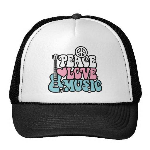 Paz-Amor-Música Gorros