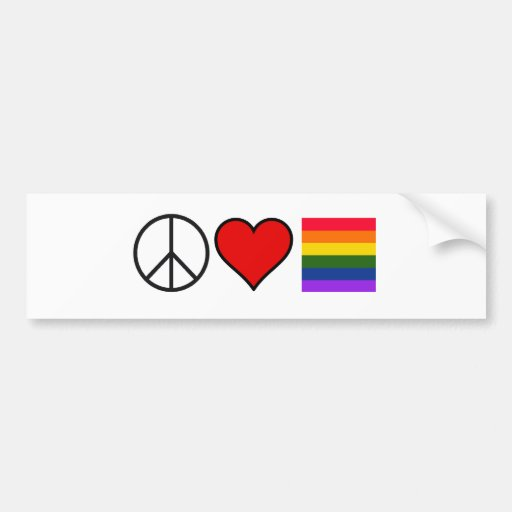 Paz. Amor. Orgullo Etiqueta De Parachoque