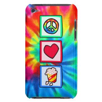 Paz, amor, palomitas Case-Mate iPod touch cárcasa