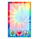 Paz, amor, pandas papeleria de diseño
