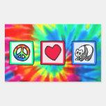 Paz, amor, pandas pegatina