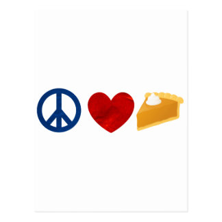 Paz, amor, pastel de calabaza postales
