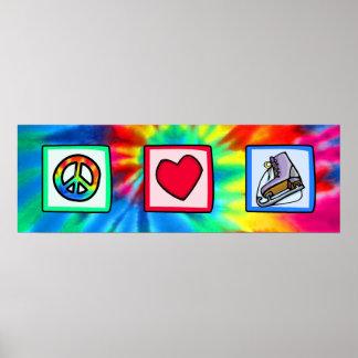 Paz, amor, patín de hielo póster