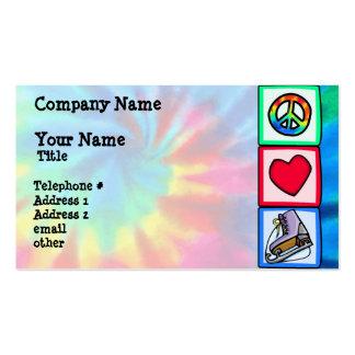 Paz, amor, patín de hielo plantillas de tarjetas de visita