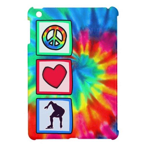 Paz, amor, patinaje de velocidad iPad mini fundas