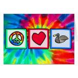 Paz, amor, patos felicitaciones