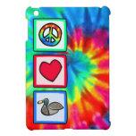 Paz, amor, patos iPad mini carcasa