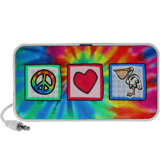 Paz amor pelícanos laptop altavoz
