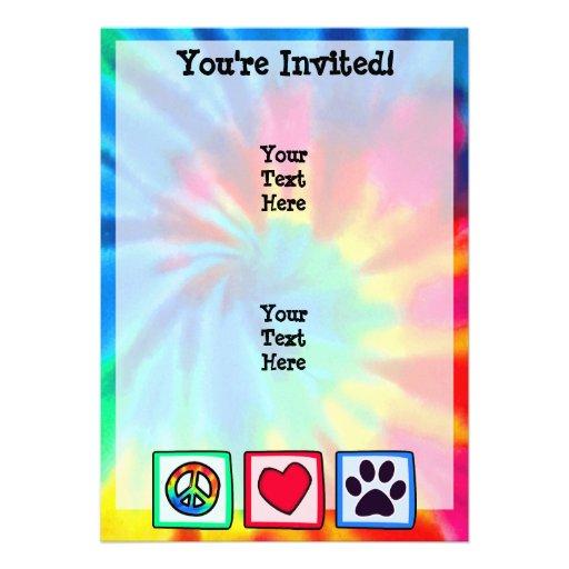 Paz, amor, perro; Pawprint Comunicados Personalizados