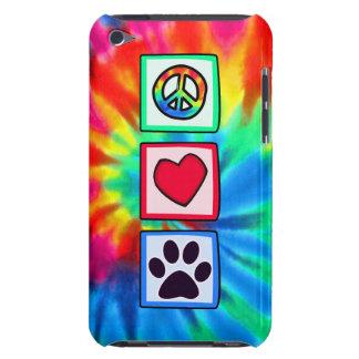 Paz, amor, perro; Pawprint iPod Touch Case-Mate Carcasas