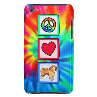 Paz, amor, perros chinos de perro chino iPod touch Case-Mate fundas