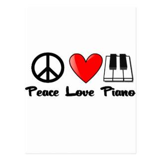 Paz, amor, piano postales