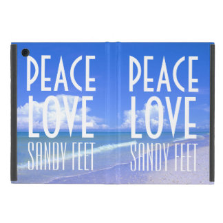 Paz, amor, pies de Sandy iPad Mini Carcasas