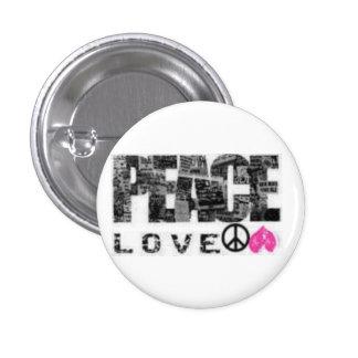 Paz, amor pins