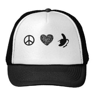 Paz, amor… ¡Plátano! Gorros Bordados
