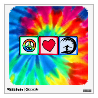 Paz, amor, practicando surf vinilo decorativo