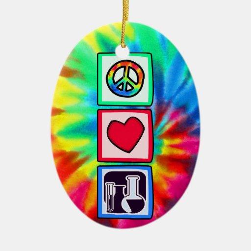 Paz, amor, química adorno de reyes