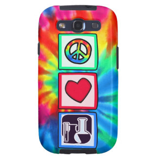 Paz, amor, química galaxy s3 carcasa