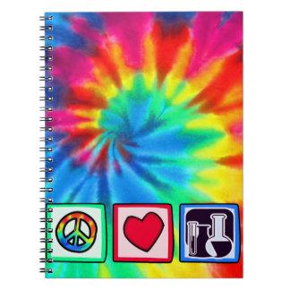 Paz amor química libreta espiral