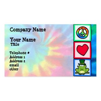 Paz, amor, rana irlandesa tarjetas de visita