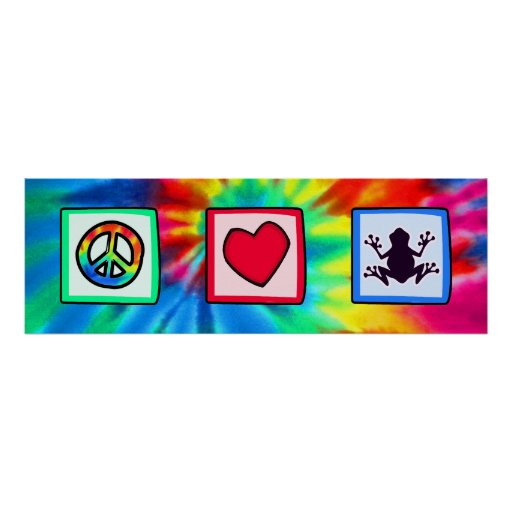 Paz, amor, ranas póster