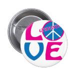 Paz, amor, regalos de la gimnasia y ropa pins