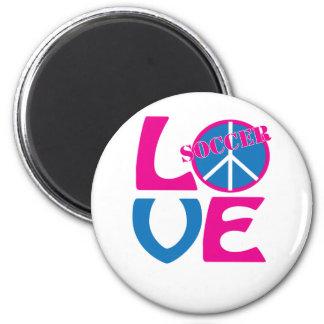 Paz, amor, regalos del fútbol y ropa para las muje imán