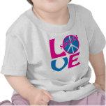 Paz, amor, regalos del fútbol y ropa para las muje camiseta