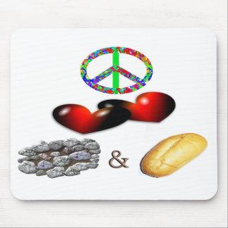 Paz, amor, Rock&Roll Tapetes De Raton