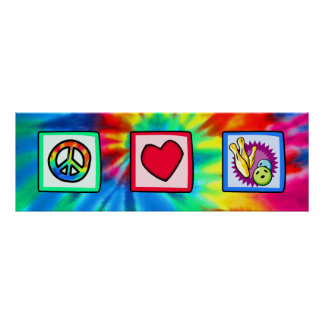 Paz, amor, rodando posters