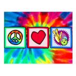 Paz, amor, rodando postal