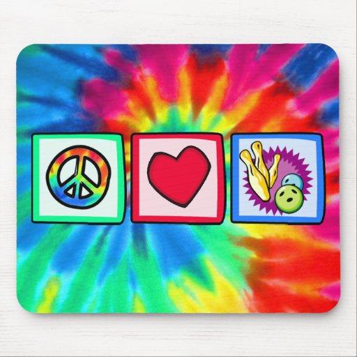 Paz, amor, rodando tapete de ratones