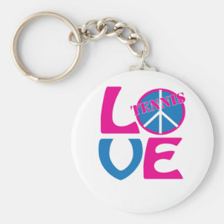 Paz, amor, ropa del tenis y regalos llavero personalizado