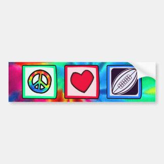 Paz, amor, rugby pegatina para auto